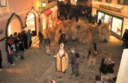 St. Nicholas leading his Krampus into town - All Things Garmisch