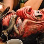 Krampus mask in waiting - the most insane Christmas party ever!