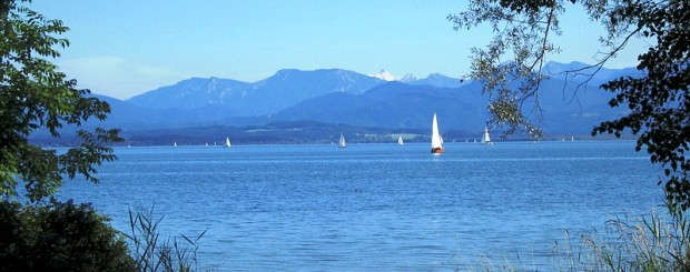Chiemsee Lake by Herrenchiemsee Castle