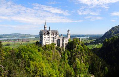 Neuschwanstein castle in summer